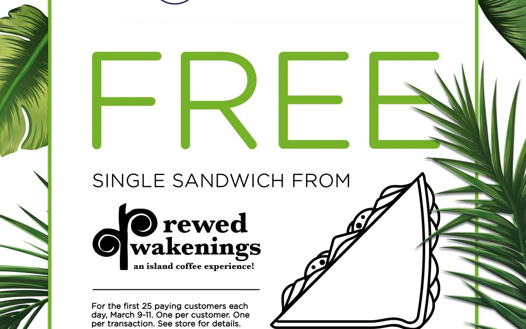 SM Island – Free Single Sandwich