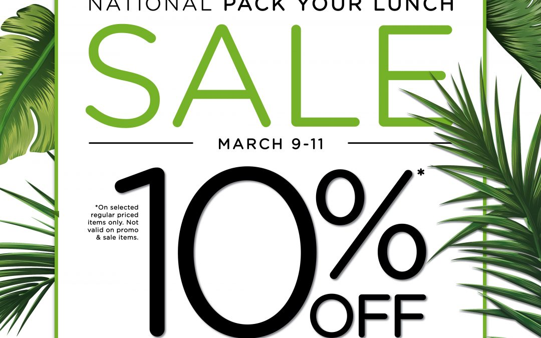 SM Island – National Pack Your Lunch Sale