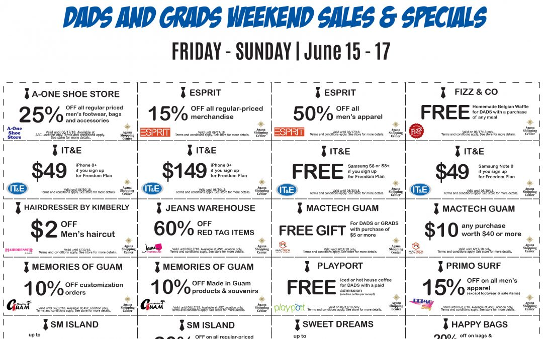 Dad's and Grads Sale