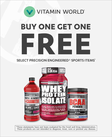Vitamin World – Buy One Get One Free Mix and Match Select Precision Engineered Sports Items