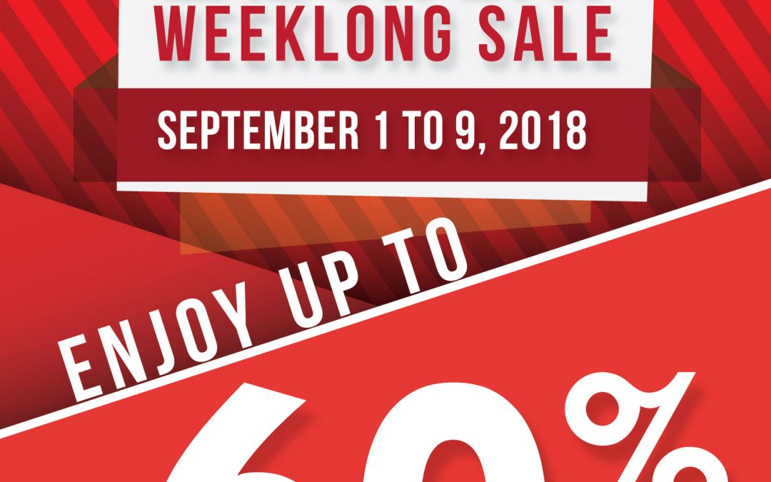 Labor Day Weeklong Sale