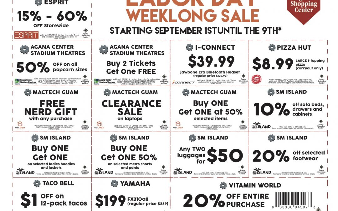 ASC Labor Day Weeklong Sale
