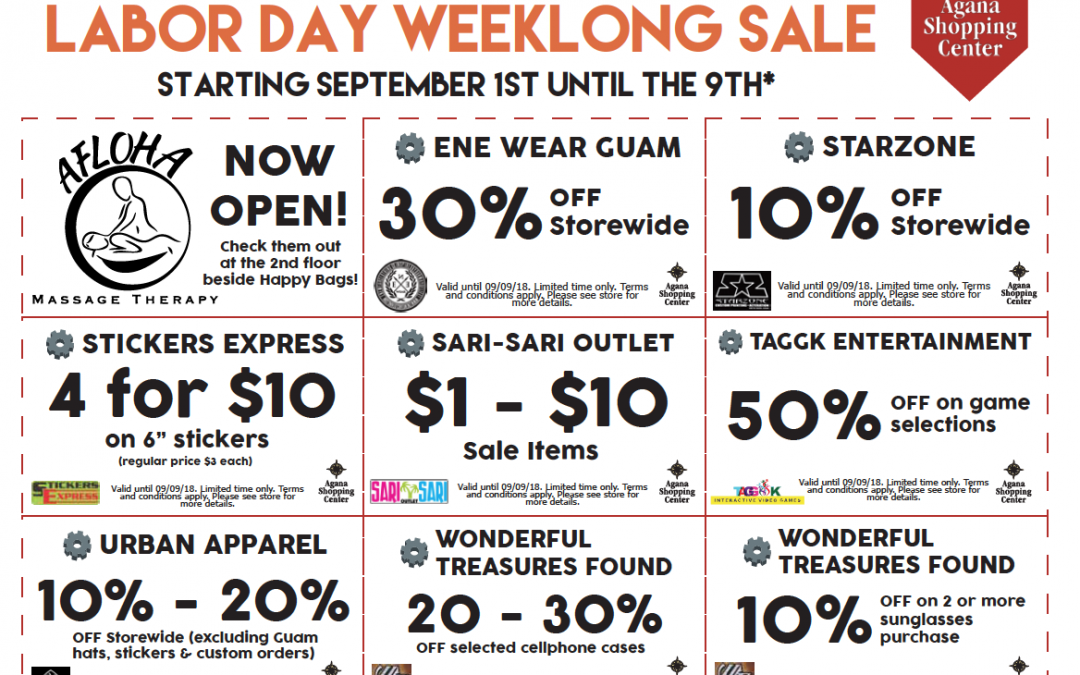 Agana Marketplace Labor Day Sale