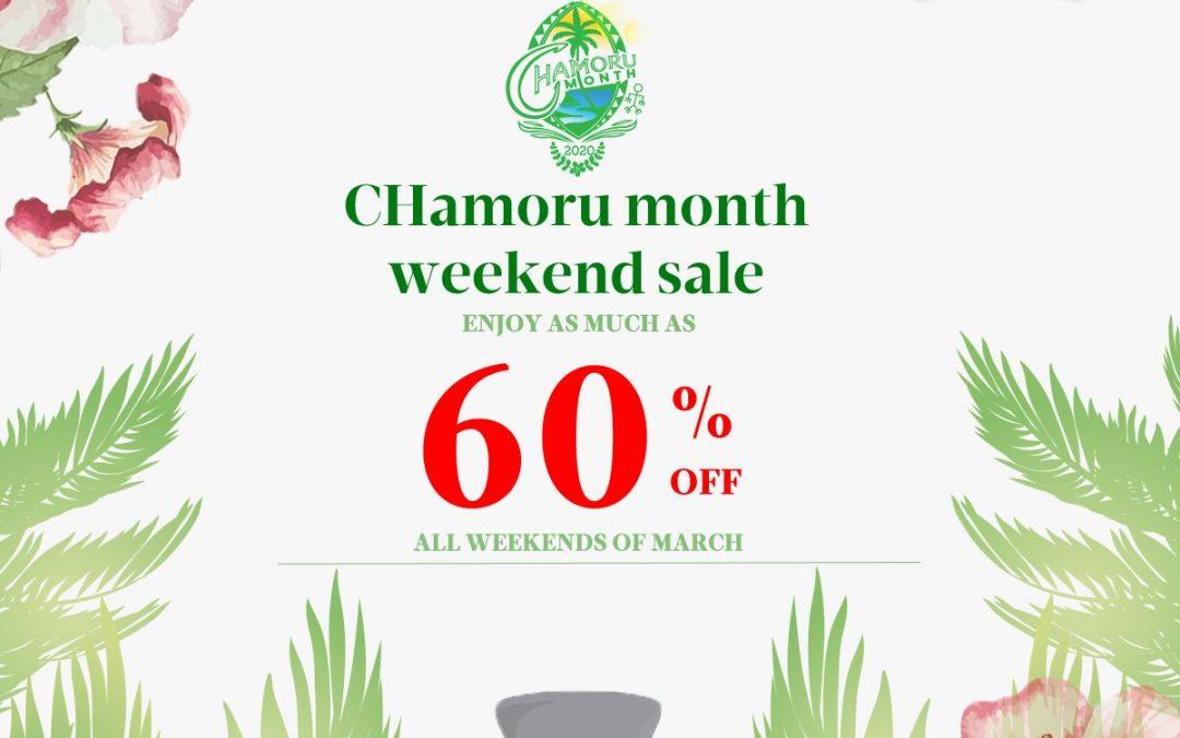 CHamoru Month Weekend Sales
